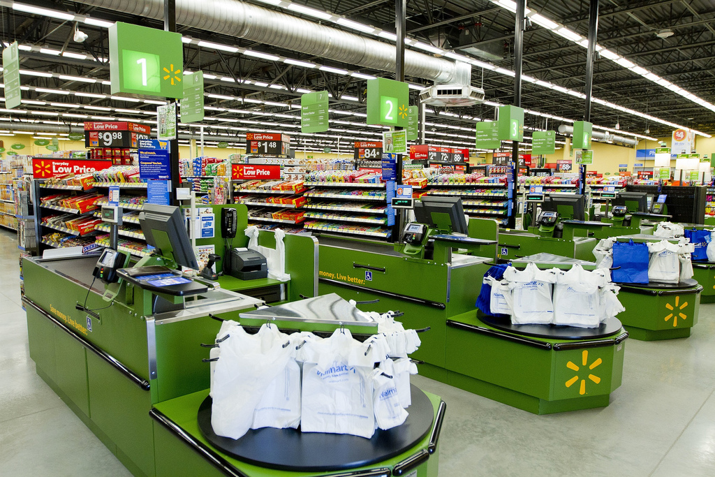 walmart neighborhood market with led lighting