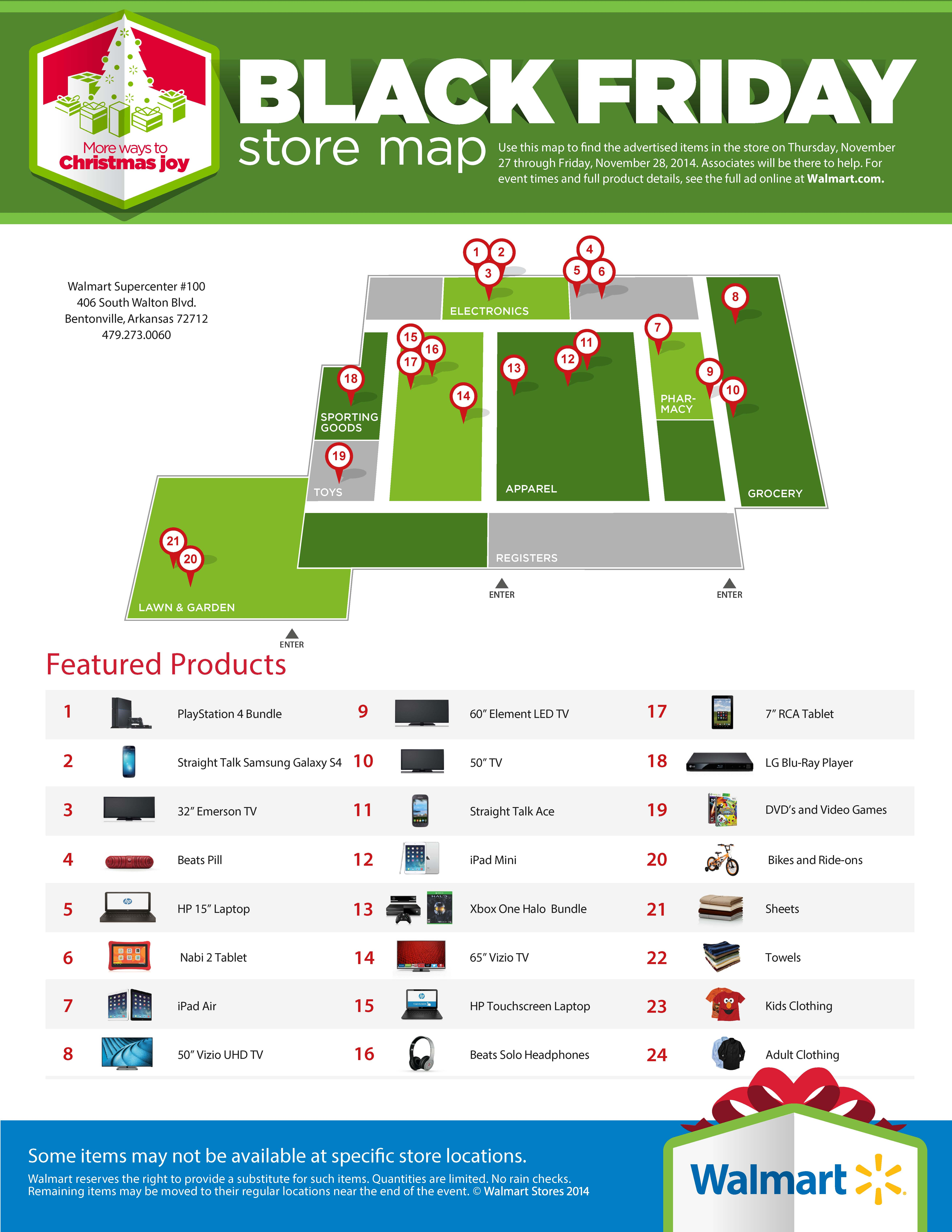 Black Friday Store Map Example