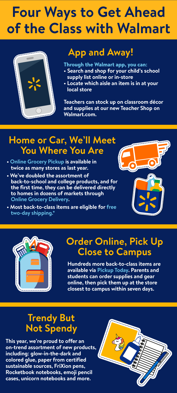 Walmart Helps Customers Ace Back-to-School and Back-to-College with