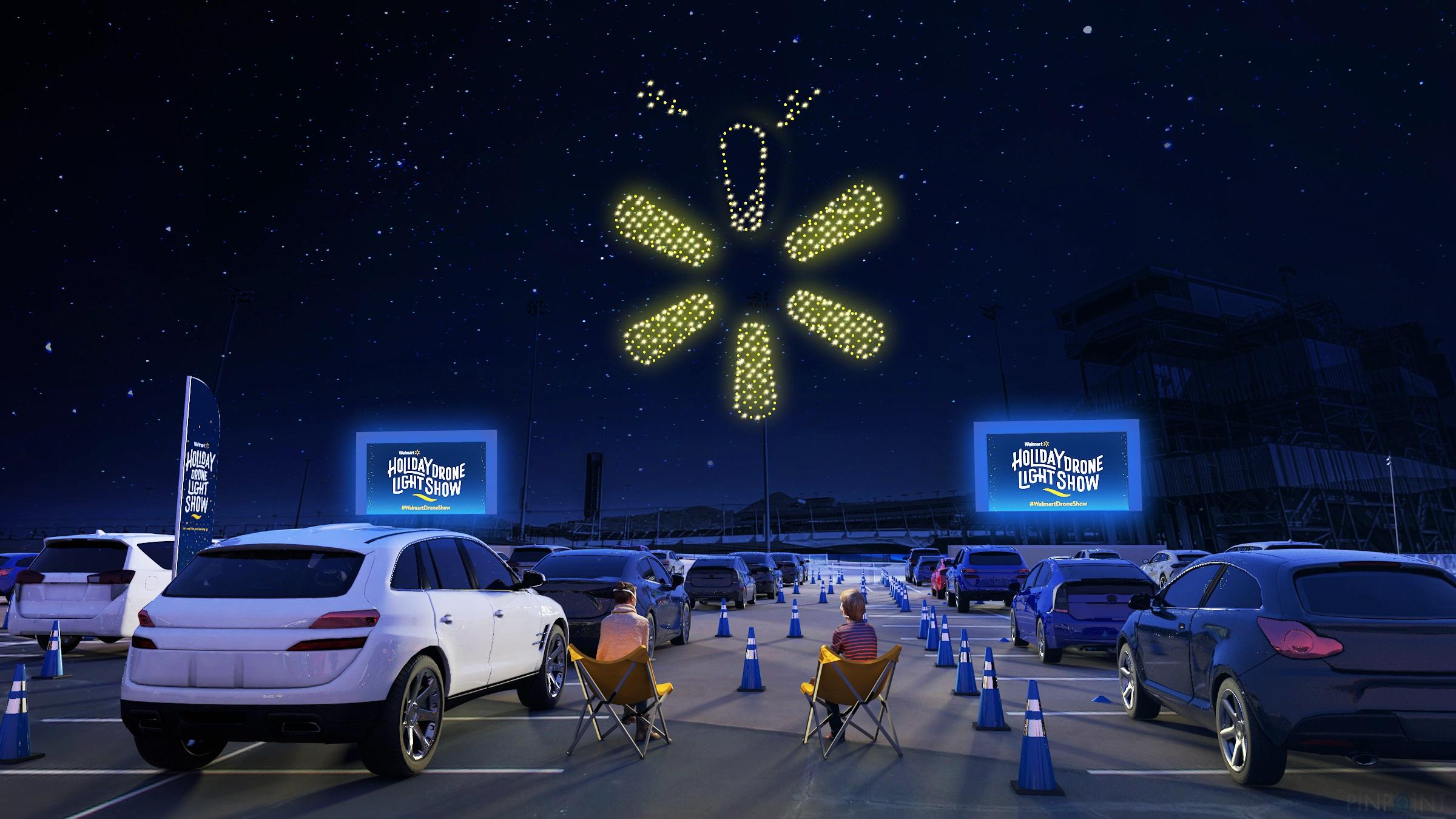 Kansas City Christmas Show Nov 2021 Walmart Lights Up The Sky With All New Holiday Drone Light Show